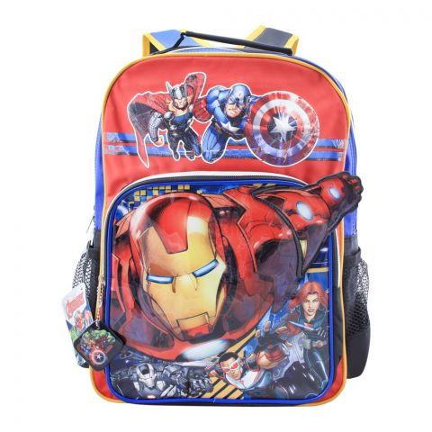 Avengers Boys Backpack, Red, MVNG-5051