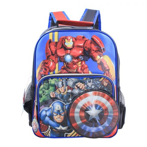 Avengers Boys Backpack, Blue, MVNG-5050