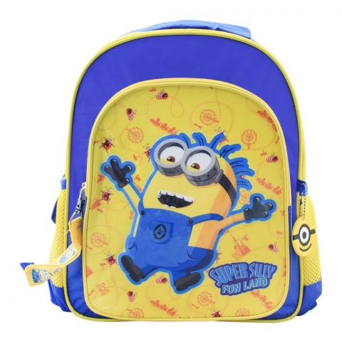 Minions Super Silly Fun Land Backpack, Blue/Yellow, DE-33227