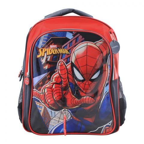Spiderman Boys Backpack, Red/Black, SPM-31436