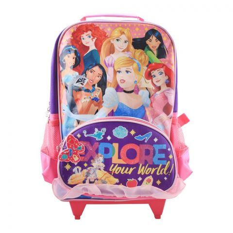 Explore Your World Girls Trolly Backpack, Pink, PCNG-6023