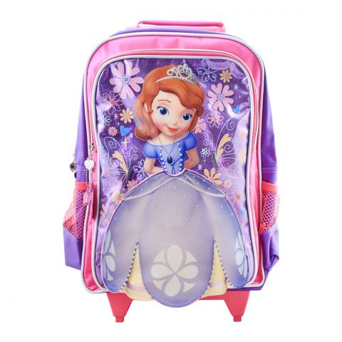 Disney Girls Trolly Backpack, Pink/Purple, SFNE-6030