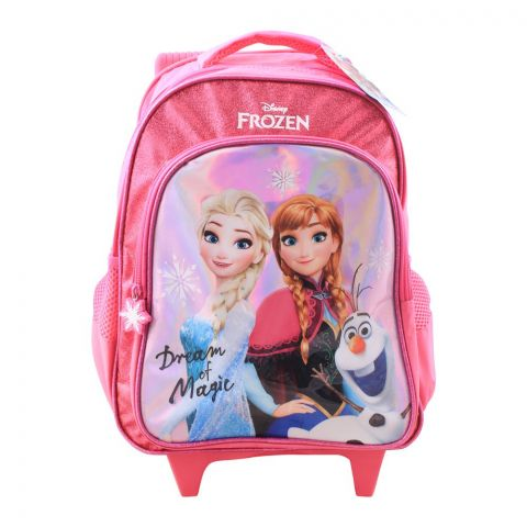 Frozen Dream of Magic Girls Trolly Backpack, Pink, FZ-91689
