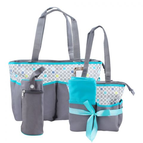Colorland Green Squares Baby Bag Set, 5 Pieces, BB999AK