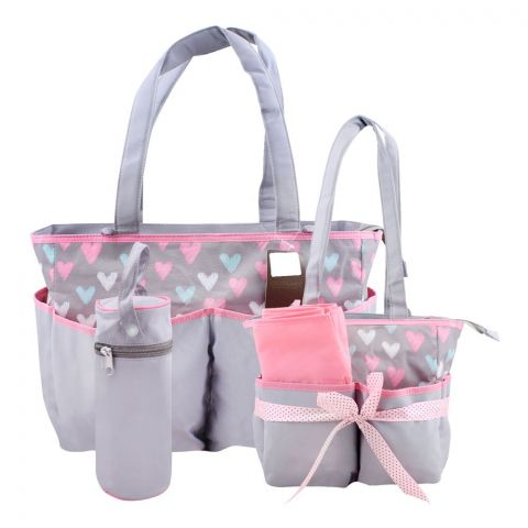 Colorland Colourful Hearts Baby Bag Set, 5 Pieces, BB999AP
