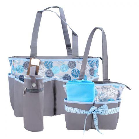 Colorland Grey/Blue Potpourri Baby Bag Set, 5 Pieces, BB999PP
