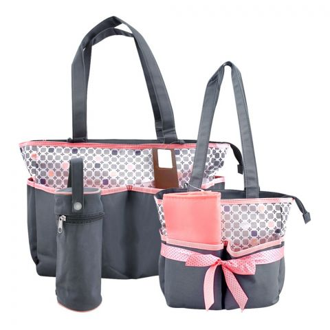 Colorland Pink Squares Baby Bag Set, 5 Pieces, BB999ZZ