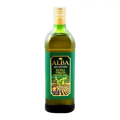 Alba 100% Spanish Extra Virgin Olive Oil, 1 Liter, Bottle