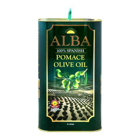 Alba 100% Spanish Pomace Olive Oil, 4 Liter, Tin
