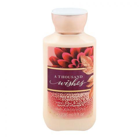 Bath & Body Works A Thousand Wishes Body Lotion, Shea & Vitamin E, 236ml