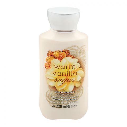 Bath & Body Works Warm Vanilla Sugar Body Lotion, Shea & Vitamin E, 236ml