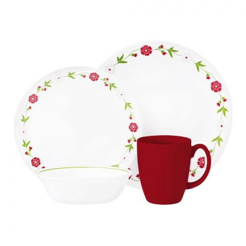 Corelle Livingware Breakfast Set, Spring Pink, 16 Pieces