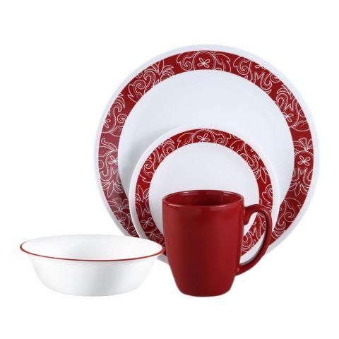 Corelle Livingware Breakfast Set, Bandhani, 16 Pieces