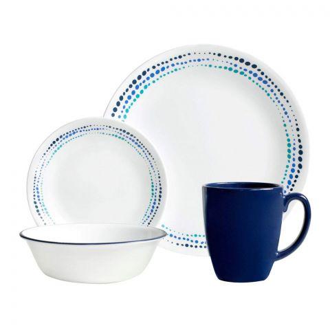 Corelle Livingware Breakfast Set, Ocean Blues, 16 Pieces