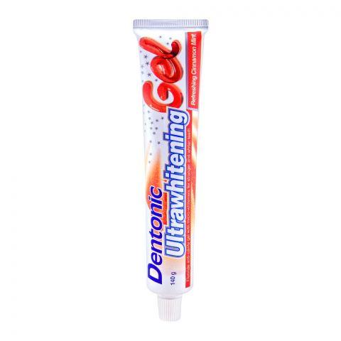 Dentonic Ultrawhitening Refreshing Cinnamon Gel Toothpaste, 140g