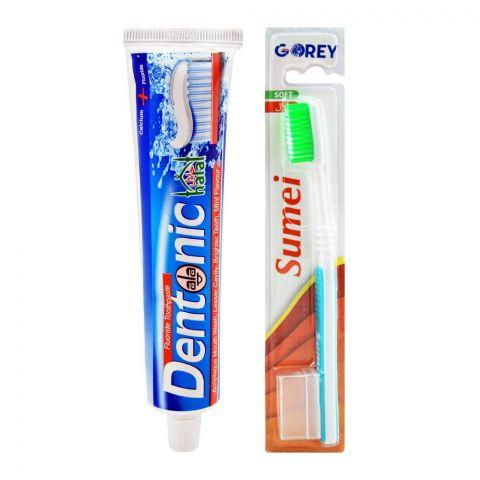 Dentonic Fluoride Toothpaste Brush Pack, 200g