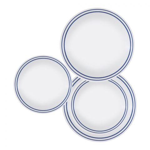 Corelle Livingware Plate Set, Breathtaking Blue Beads, 18 Pieces