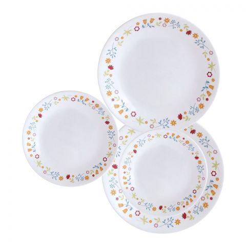 Corelle Livingware Plate Set, Disty Flora, 18 Pieces