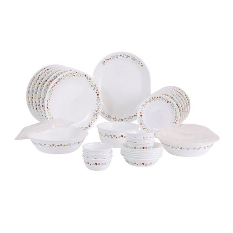 Corelle Livingware Dinner Set, Disty Flora, 76 Pieces