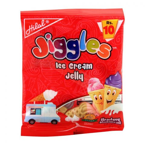 Hilal Jiggles Ice Cream Jelly, Strawberry Blackcurrant, 17.5g