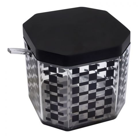 Kaligon Sugar Jar, Black