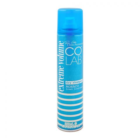 COLAB Extreme Volume Dry Shampoo, Monaco Fresh Fragrance, 200ml
