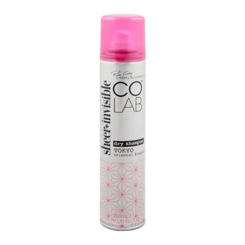 COLAB Sheer + Invisible Dry Shampoo, Tokyo Oriental Fragrance, 200ml