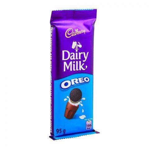 Cadbury Dairy Milk Oreo Chocolate Bar, Imported, 95g