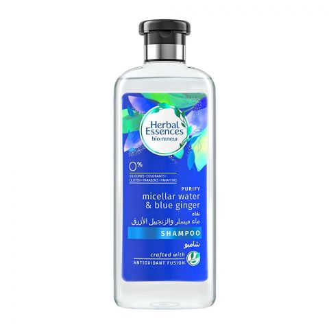 Herbal Essences Bio Renew Purify Micellar Water & Blue Ginger Shampoo, 400ml