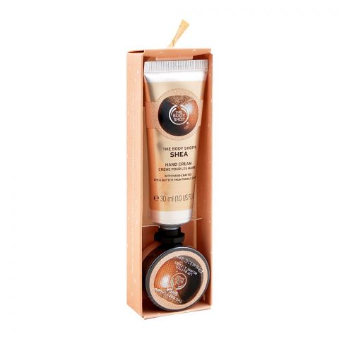The Body Shop Soft Hands, Warm Kisses Nutty & Nourishing Shea Duo, Hand Cream + Lip Butter, 600419