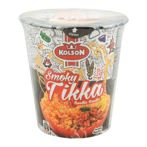 Kolson Cup Instant Noodles, Smoky Tikka, 50g