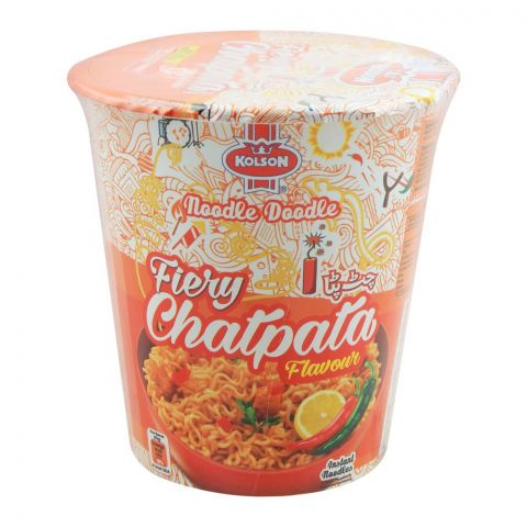 Kolson Cup Instant Noodles, Fiery Chatpata, 50g