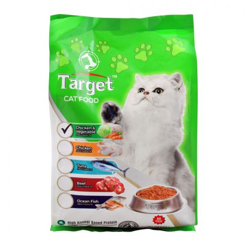 Target Adult Cat Food, Chicken & Vegetable, 500g, Bag