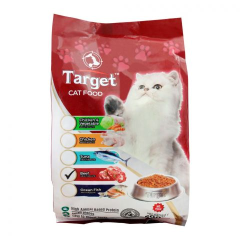 Target Adult Cat Food, Beef, 500g, Bag