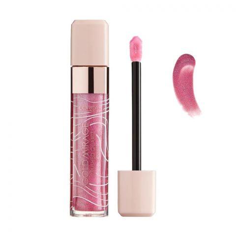 L'Oreal Paris Gold Mirage Crushed Quartz Lip Gloss, 02 Pink Quartz