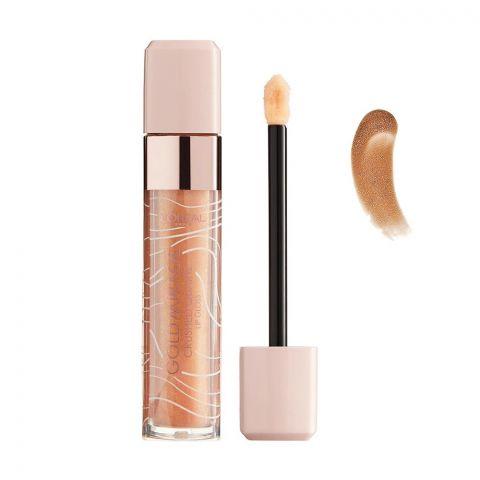 L'Oreal Paris Gold Mirage Crushed Quartz Lip Gloss, 01 Gold Quartz