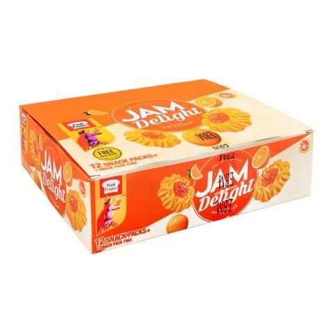 Peek Freans Jam Delight, Orange, 12 Snack Pack