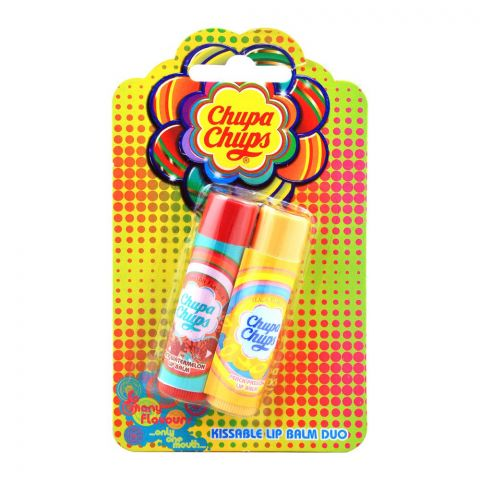 Chupa Chups Kissable Lip Balm, 2-Pack