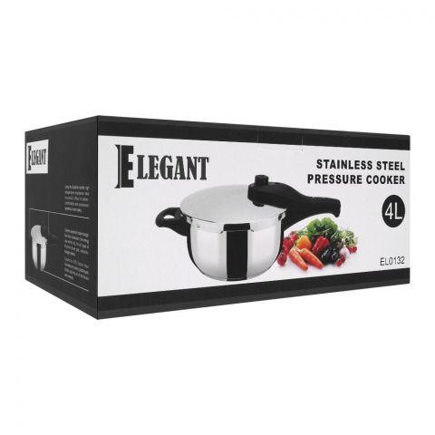 Elegant Pressure Cooker, 4 Liters, Stainless Steel, EL-0132
