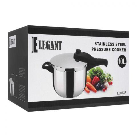 Elegant Pressure Cooker, 8 Liters, Stainless Steel, EL-0134