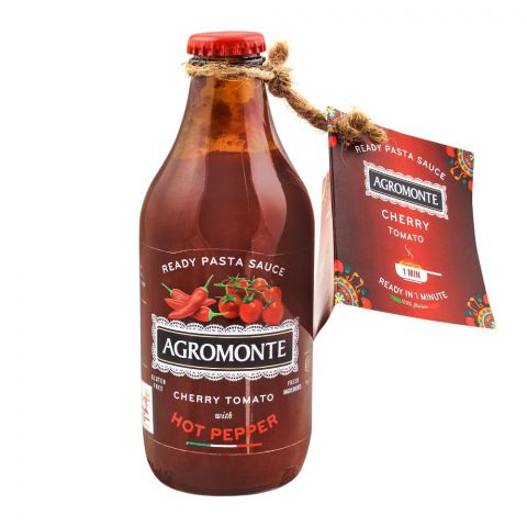 Agromonte Cherry Tomato With Hot Pepper Pasta Sauce, Gluten Free, 330g