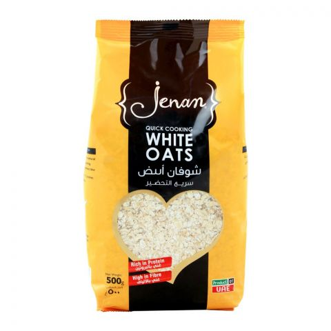 Jenan Quick Cooking White Oats, Pouch, 500g