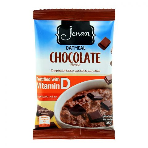Jenan Oatmeal, Chocolate Flavour, Pouch, 35g