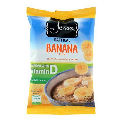Jenan Oatmeal, Banana Flavour, Pouch, 35g