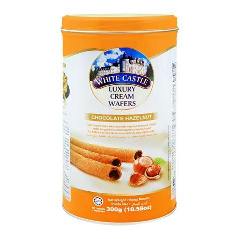 White Castle Luxury Cream Wafers, Chocolate Hazelnut, 300g