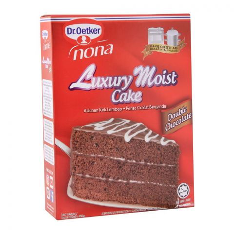 Dr. Oetker Luxury Moist Cake, Double Chocolate, 520g