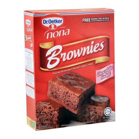 Dr. Oetker Brownies, Chocolate Fudge, 510g