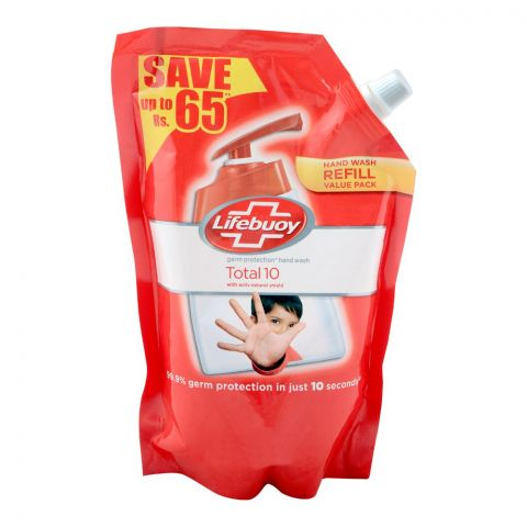 Lifebuoy Total 10 Hand Wash Pouch Refill, 450ml