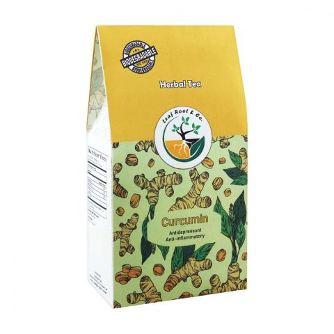 Leaf Root Curcumin Herbal Tea Bags, 20-Pack