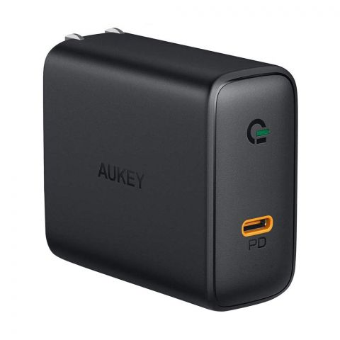 Aukey 60W USB-C Power Delivery Wall Charger, Black, PA-D4